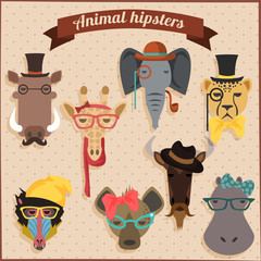 Cute fashion Hipster African Animals