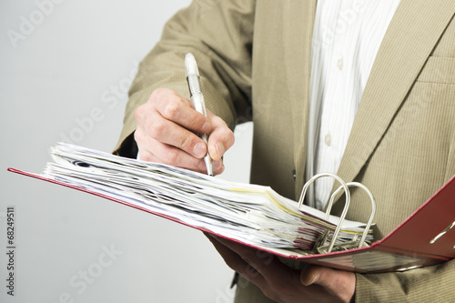 canvas print picture Man writing something