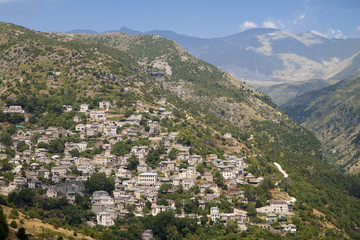 Traditional village of Syrako at Tzoumerka in Greece