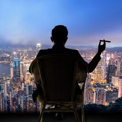 businessman sit on chair