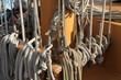 Sailing ship ropes and rigging