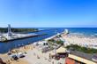 Ustka, most obrotowy przy ujściu Słupi do morza - 68250577