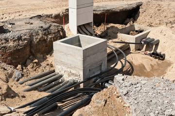 Bauarbeiten an der Stromversorgung - Ein neuer Kabelschacht