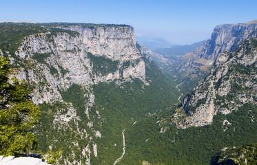 Vikos gorge of Pindos mountains in Greece