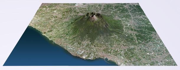 Vista aerea del Vesuvio cartina