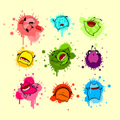 Cool colorful collection of dead monsters