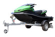 Green hydrocycle on the automobile trailer - 68251521