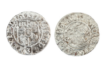 Poltorak - siver coin from Poland in 17th century