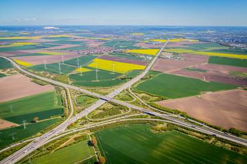 Luftbild Autobahnkreuz