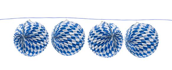 Weiß-Blaue Lampions