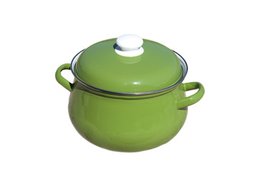 Green pot.