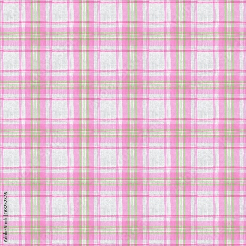 canvas print picture Pink checkered fabric