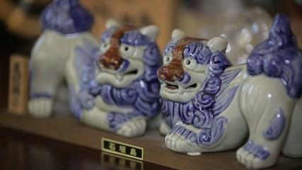 porcelain lions