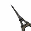 Eiffel tower on a white background, Paris, France