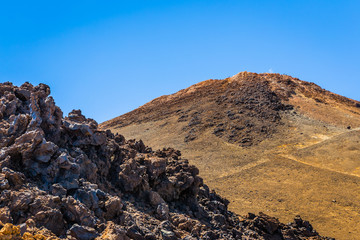 Lava rocks from Teide volcano in Tenerife