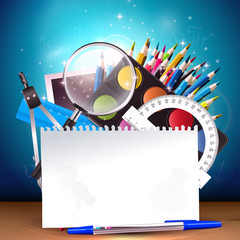 Back to school - vector background
