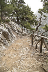Mountain path in Samaria Gorge