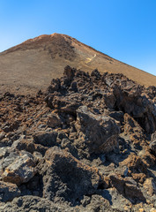 Rocks formed by lava near Teide summit