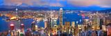 Fototapety hong kong sunset panorama
