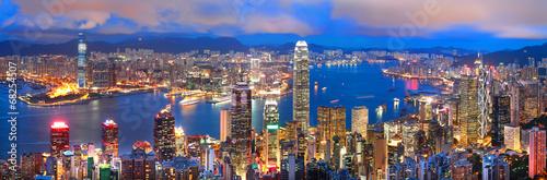Poster hong kong sunset panorama