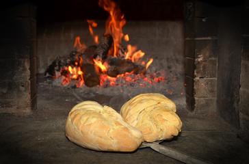 Pane caldo nel forno