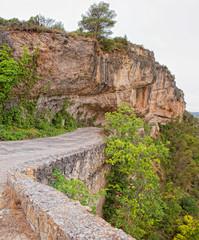 Carved road