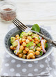 chickpea salad with onion