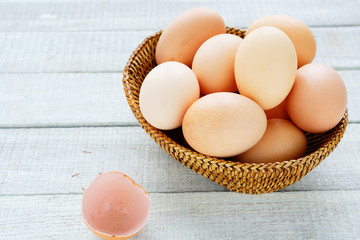 fresh chicken farm eggs
