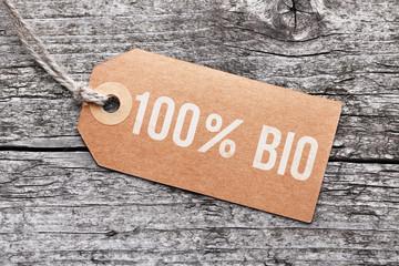 """Label """"100% Bio"""""""
