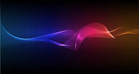 Neon abstract light background