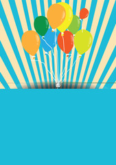vector vintage Design Template with balloons