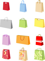 Different forms of shopping bags