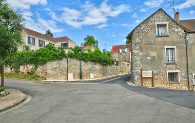 France, the picturesque village of Fontenay Saint Pere in les Yv