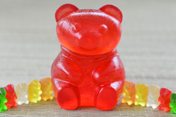 Giant gummy bear.