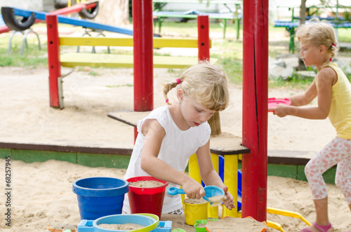 canvas print picture girl on playground