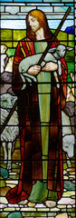 Jesus the good sheperd in stained glass