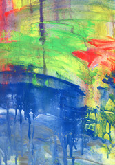 Abstract acrylic and watercolor painted background.