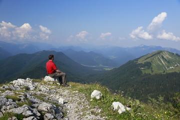 Sitzplatz in den Alpen