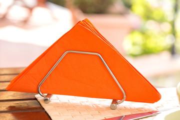 Orange napkins