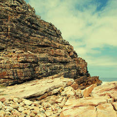 rocks near Cape of Good Hope, South Africa.