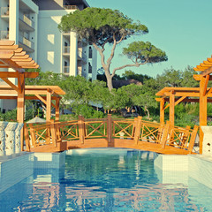summer resort with swimming pool