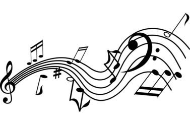 Musical symbols graphic design element
