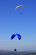 paragliders over Dartmoor