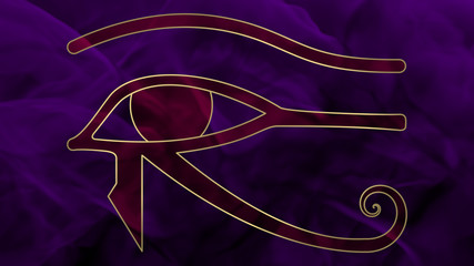 Ancient Egypt - Oudjat -  Pink & Purple