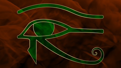 Ancient Egypt - Oudjat - Green & Orange