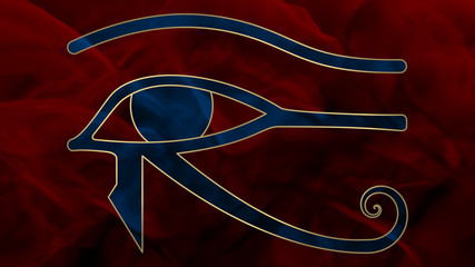 Ancient Egypt - Oudjat - Blue & Red
