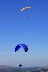 paragliders over Dartmoor