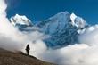 Kangtega and Thamserku with tourist - Nepal