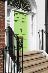 grüne Haustür