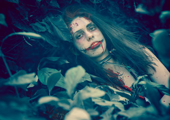 Woman zombie portrait